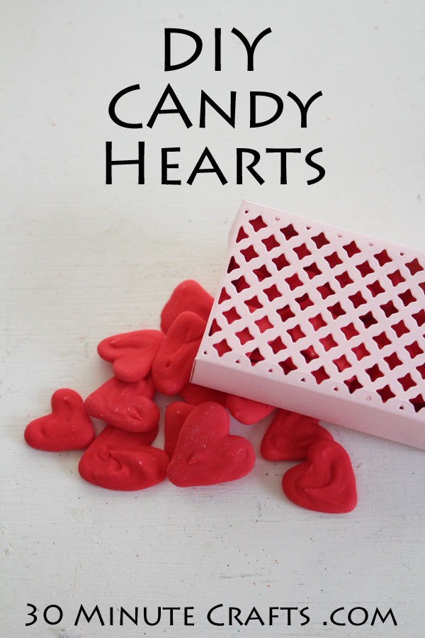 Make your own Candy Hearts and a cut box to package them up in!