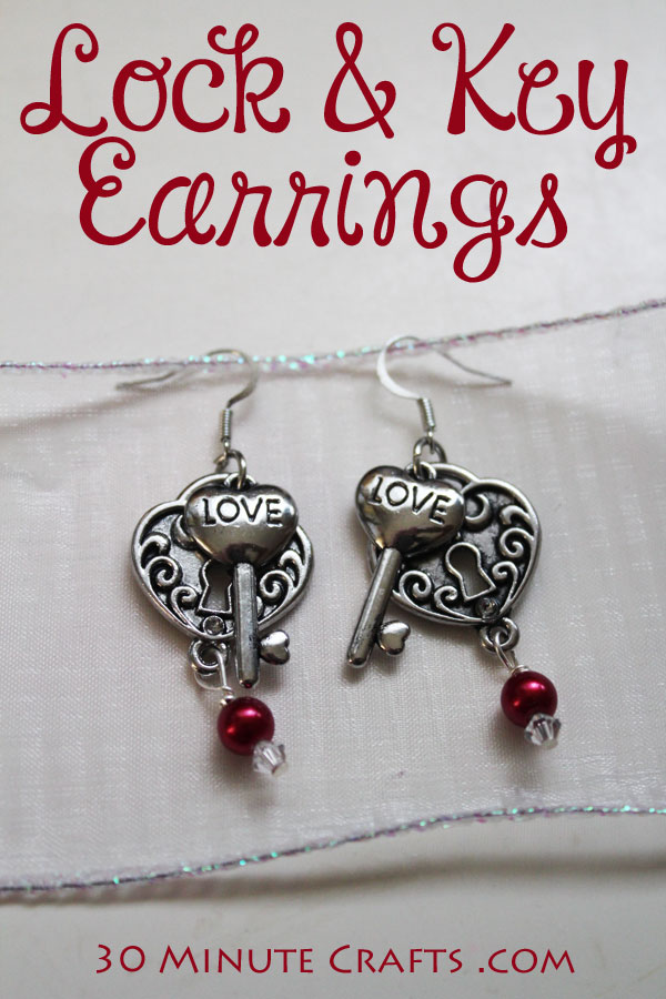 Make your own Lock and Key Earrings in just a few minutes!