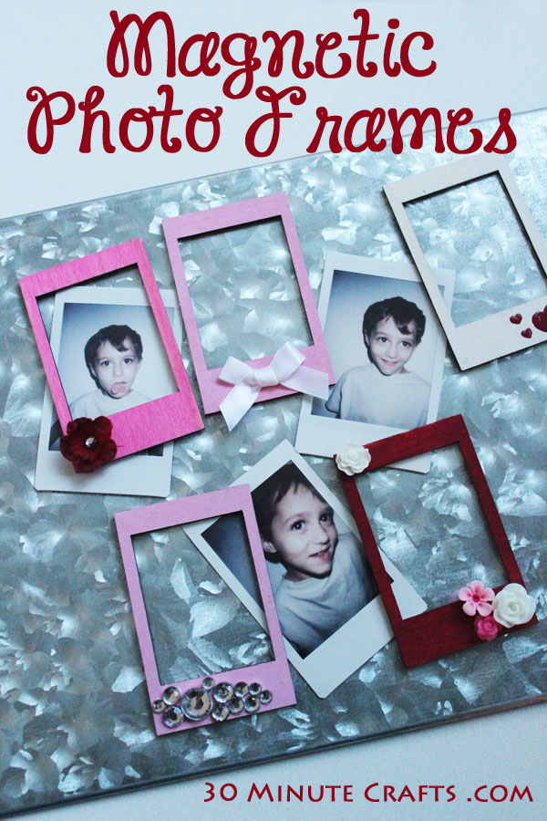 Make these simple Magnetic Photo Frames