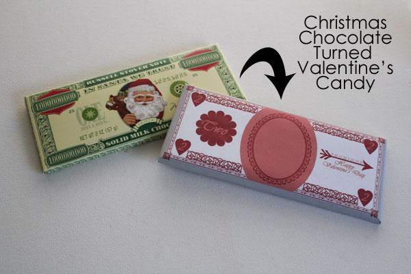 Turn Christmas Chocolate into Valentine's Chocolate