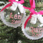 Make a DIY baby's first Christmas Ornament