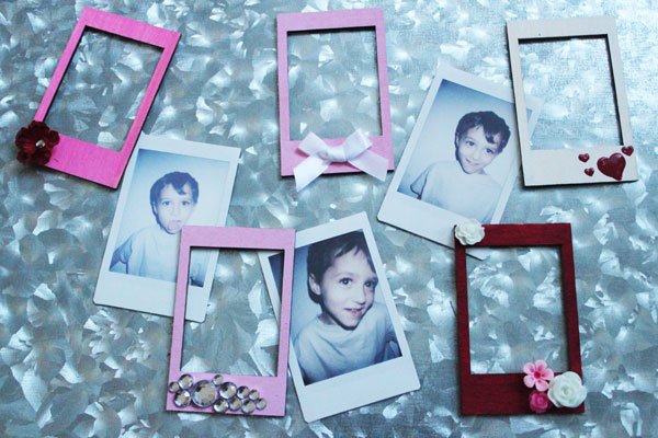 make these fun magnets to display instax photos