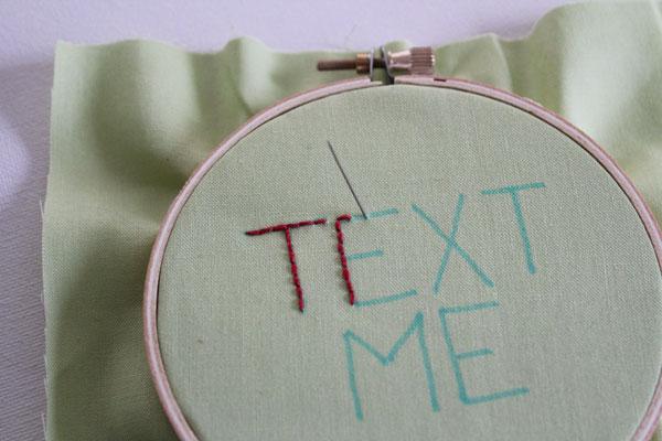 stitch text
