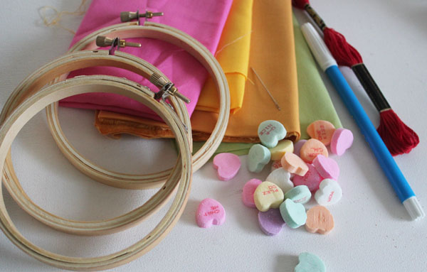 supplies for hoop art