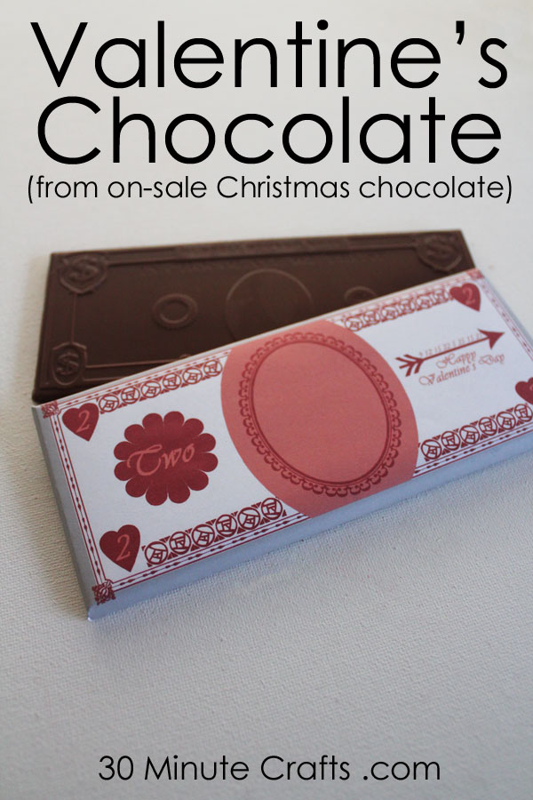 Valentine's Chocolate - Made from On Sale Christmas Chocolate!