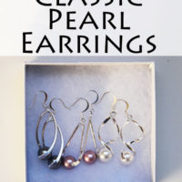 Simple and classic pearl earrings DIY