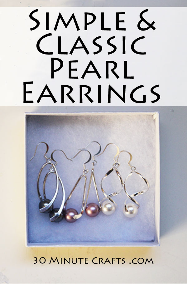 Simple and classic pearl earrings DIY