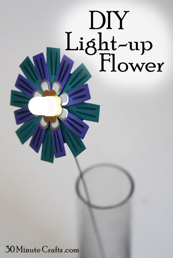 DIY Light up Flower