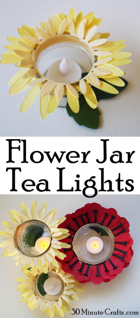 Flower Jar Tea Lights