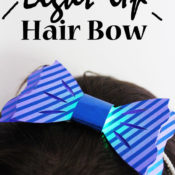 DIY Light Up Hair Bow - Simple to make in just a few minutes, so much fun to wear!