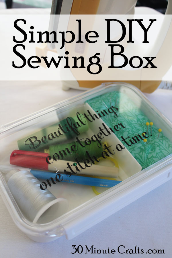 Simple DIY Sewing Box