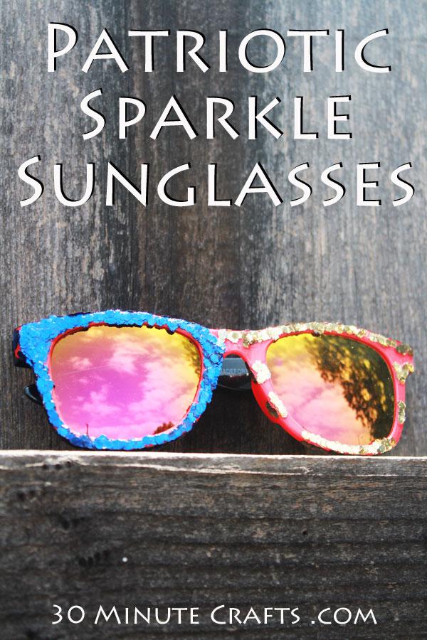 Patriotic Sparkle Sunglasses