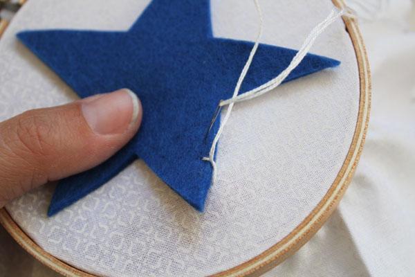 finish first stitch