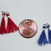 finished mini tassels