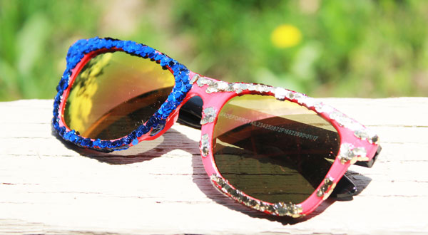 finished patriotic sunglasses