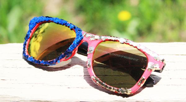 finished patriotic sunglasses
