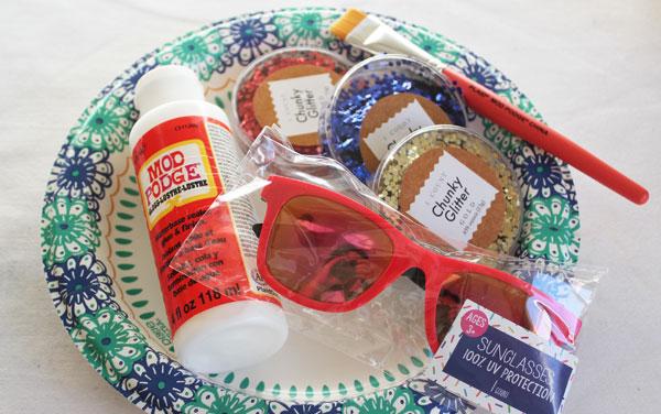 supplies for patriotic sunglasses