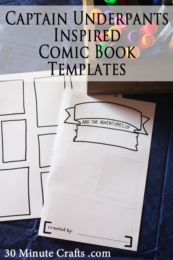 Captain Underpants Inspired Comic Book Templates