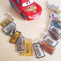 Cars 3 license plate bracelet inspired by Miss Fritter