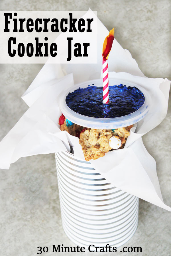 Firecracker cookie jar