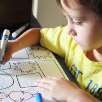 child making comic