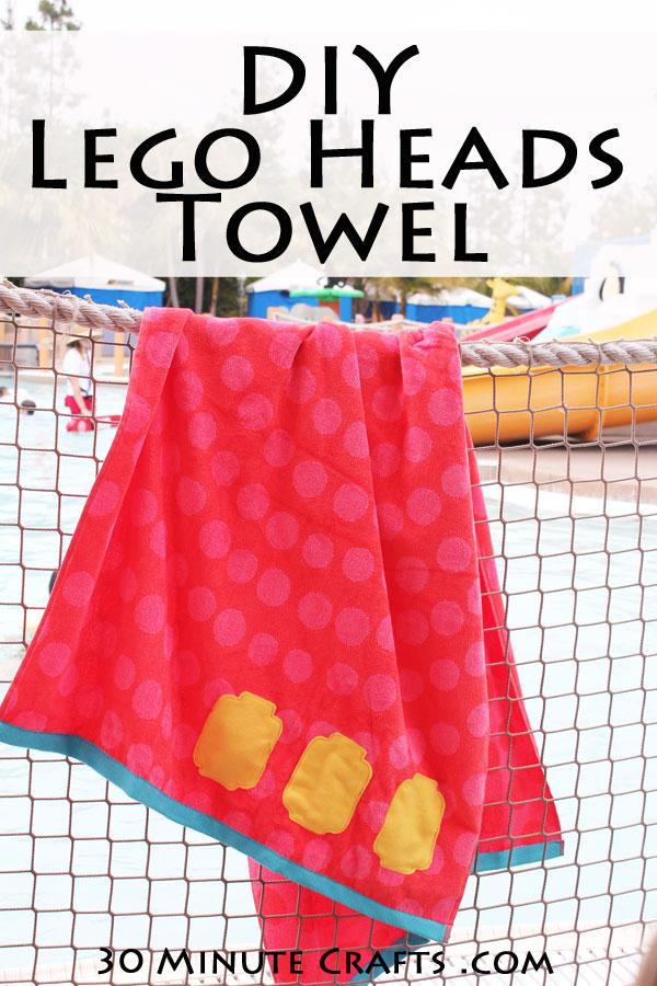 DIY Lego Heads towel