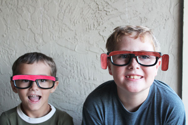 Kids wearing CARS glasses