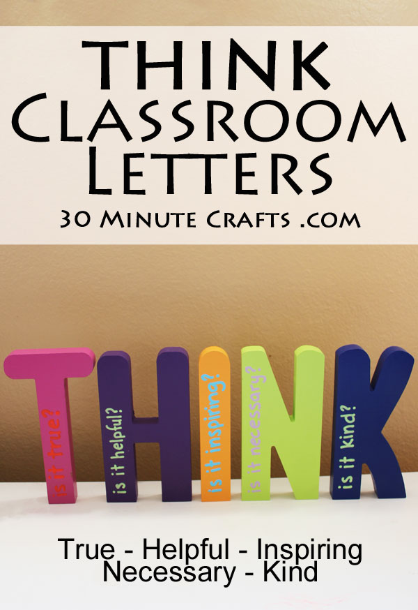 THINK Classroom Letters - a great teacher gift, perfect in a Homeschool Classroom