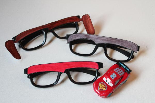 DIY Cars themed glasses