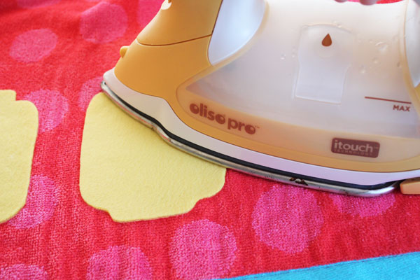 set the glue with an iron