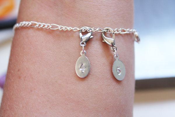 wearing bracelet