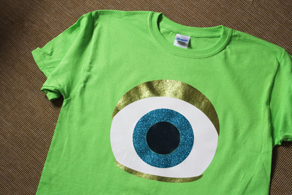 Finished Monster Eyeball shirt