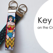 Make a key ring by cutting the fabric on the Cricut Maker