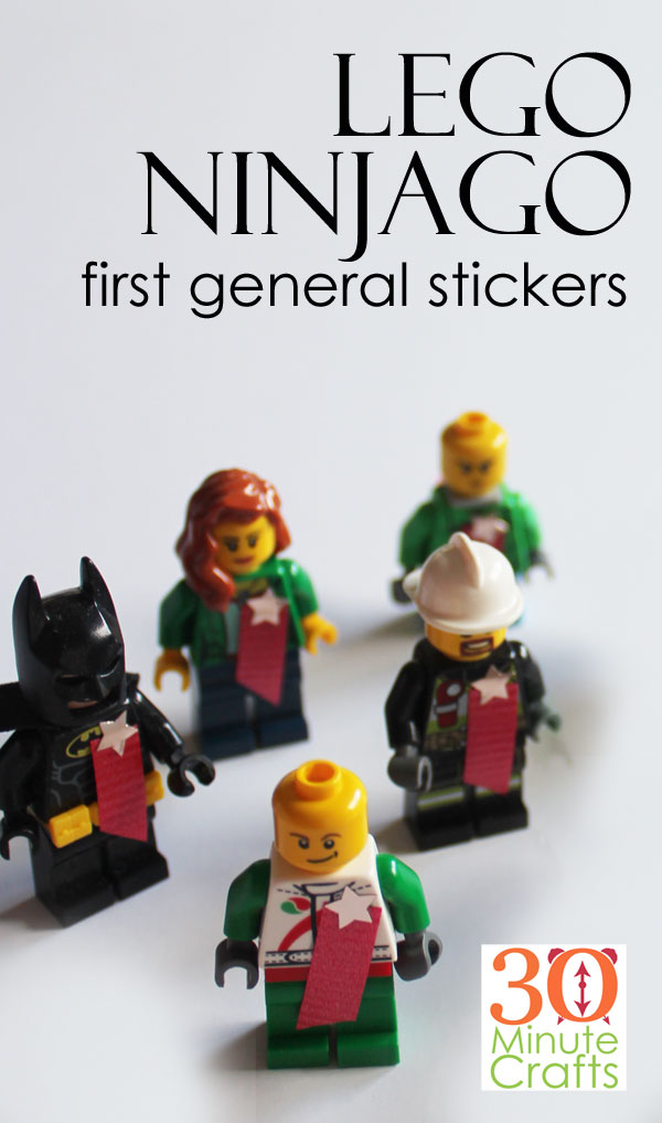 After watching the Lego Ninjago Movie, you'll want to make your own Lego Ninjago First General Stickers!