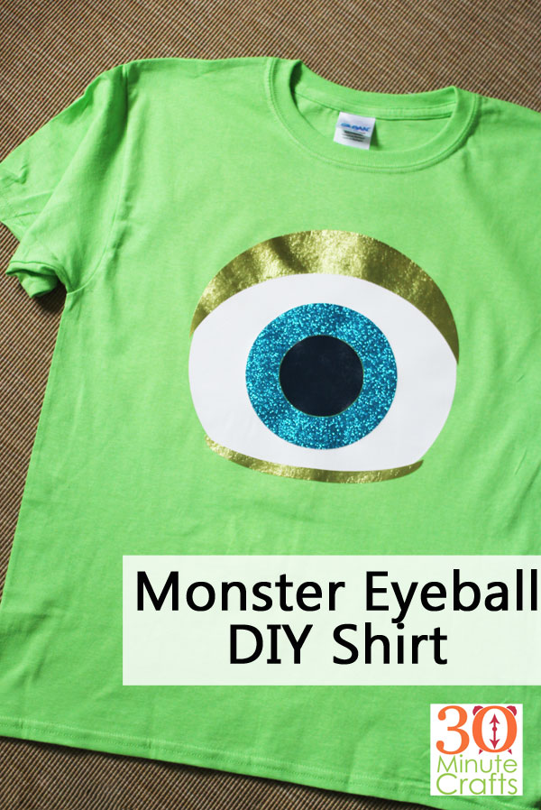 Monster Eyeball DIY Shirt - Mike Wazowski from Monsters Inc