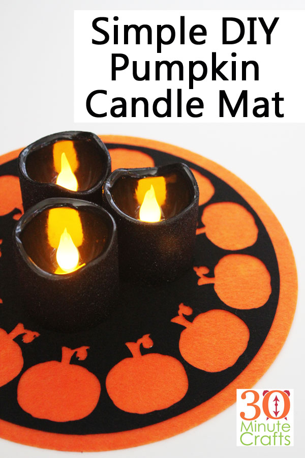 Simple DIY Pumpkin Candle Mat