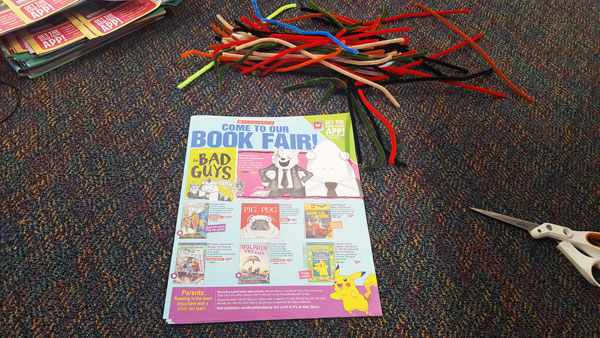 book fair flyer pouf supplies