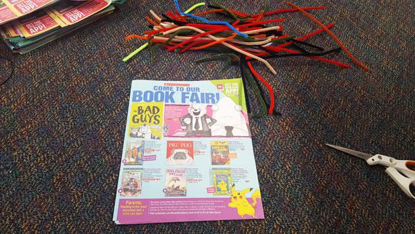 book fair flyer pouf supplies