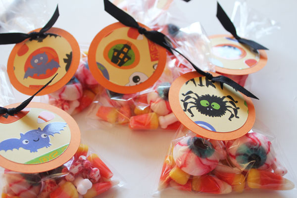 finished treat bags