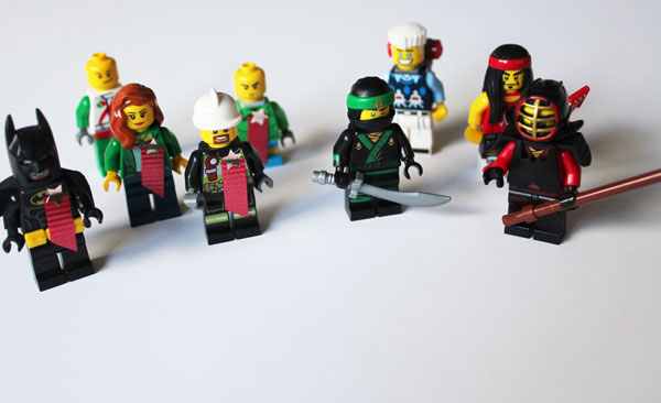 Make an army of First General Lego Minifigures to fight with the Ninjas of Lego Ninjago