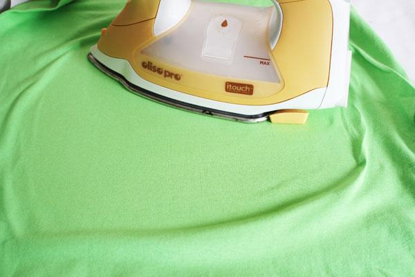 iron back of shirt