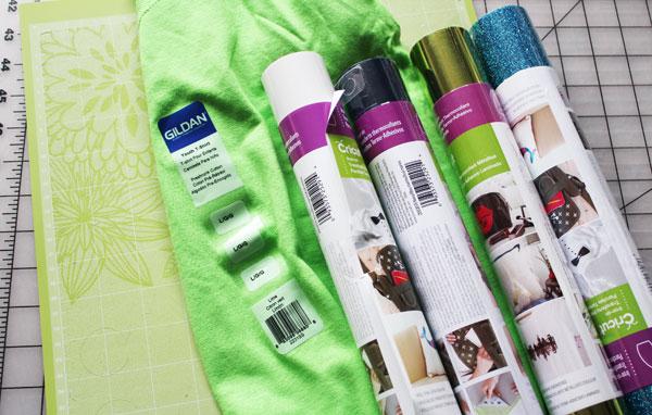 supplies for shirt