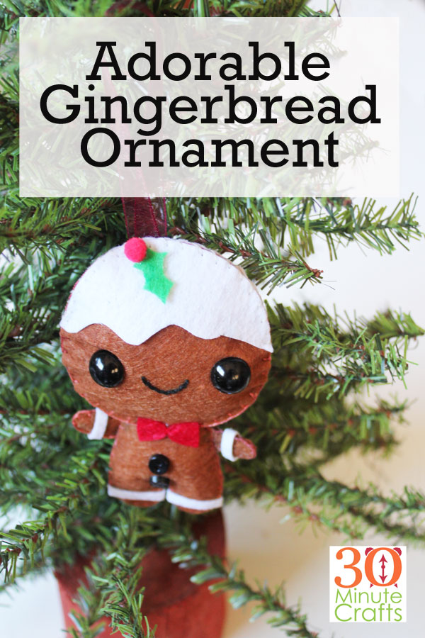 Make this Adorable Gingerbread Ornament using Felt and the Cricut Maker using the Simplicity Pattern