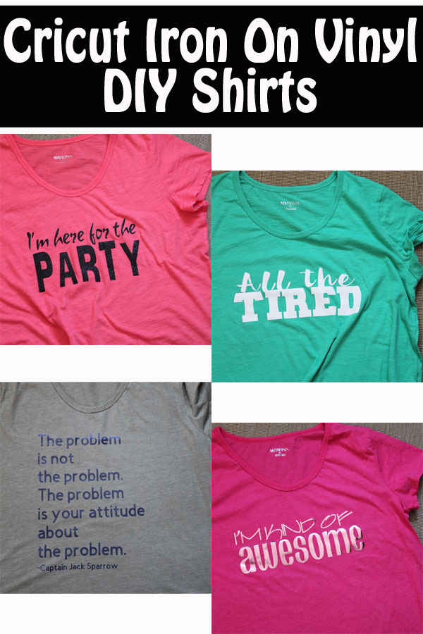 Cricut Iron on Vinyl DIY Shirts - Best HTV Shirts