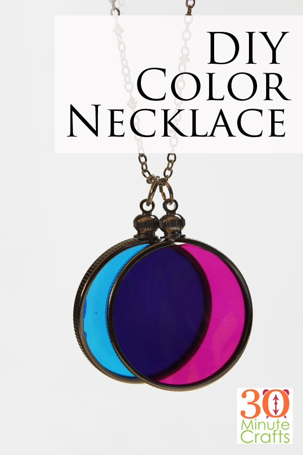 DIY Color Necklace - make this fun necklace to add a little color to any outfit! This is a 30 Minute Craft (or less)!