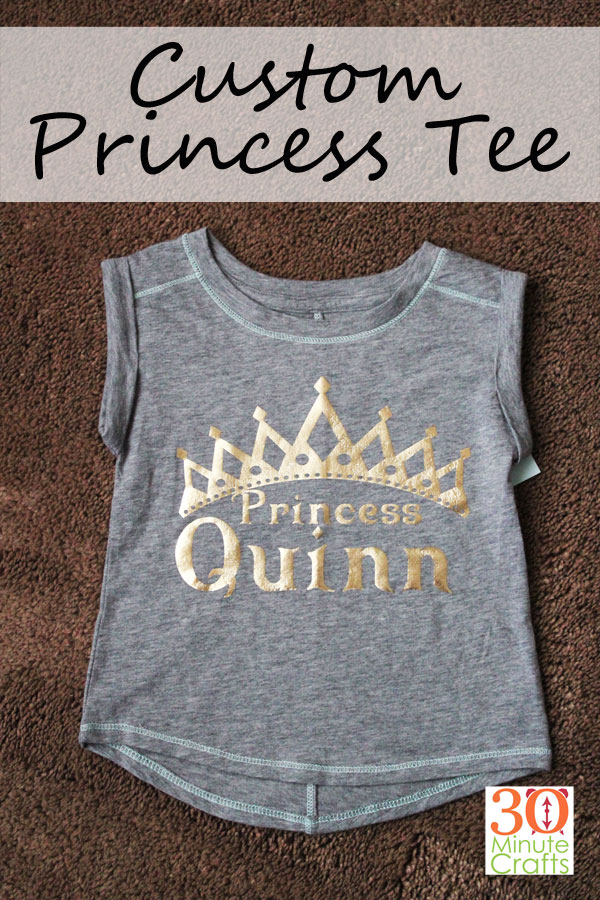 Custom Princess Tee - Make this fun Princess shirt for the Princess in your life. This is a 30 Minute Craft (or less)!