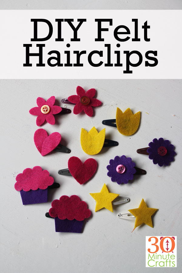 DIY Hairclips - fun hair clips you can make! No sewing or fancy skills required.