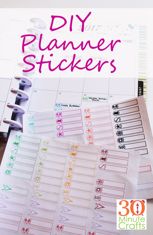 DIY Planner Stickers - Make these fun stickers on your Cricut Machine using the Cricut Pens. Draw them and then cut them out!