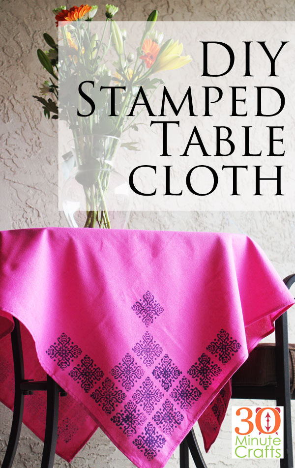 DIY Stamped Tablecloth