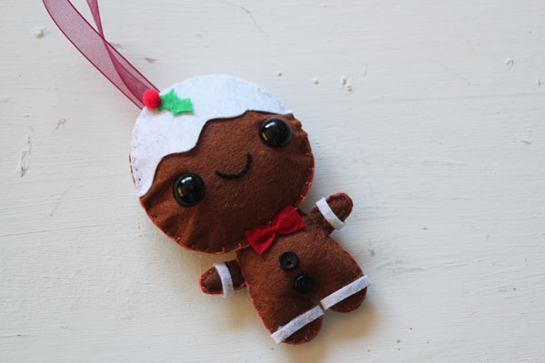 Finished Gingerbread Man Ornament